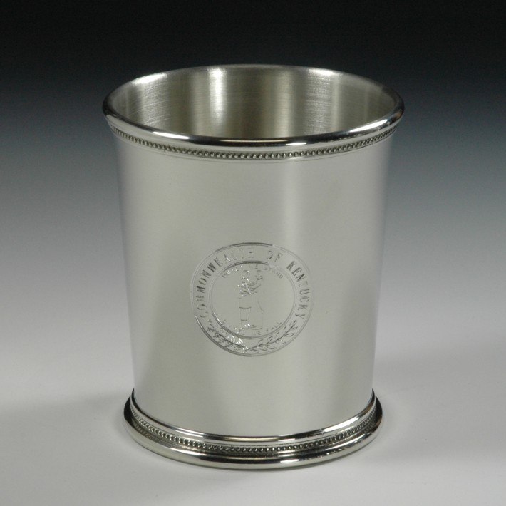 Pewter Mint Julep Cup - Kentucky Seal