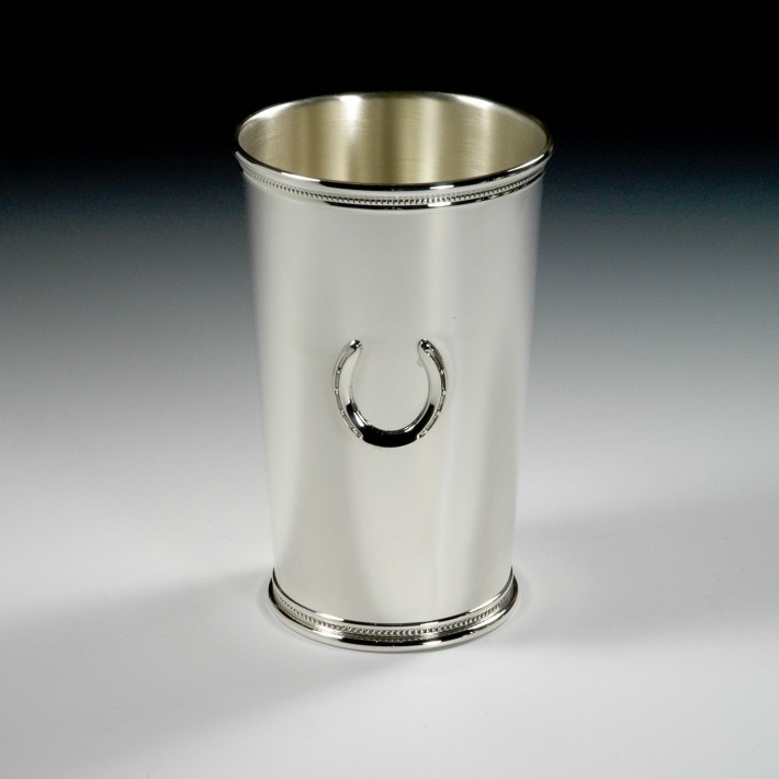 Tall Julep Cup With Horseshoe